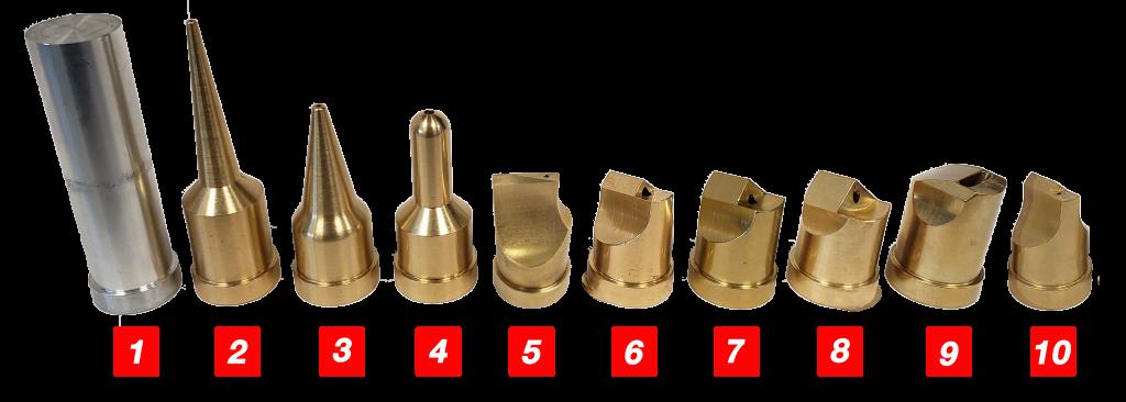 Full List of Brass Injectiweld tips
