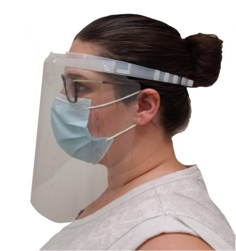 Drader face shields (PPE) for protection from viruses